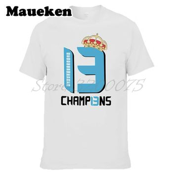 Men 2018 real La Tredecima T-shirt 13 champions Clothes T Shirt Men's Tshirt For hala madrid ronaldo Fans Gift Tee W18052301