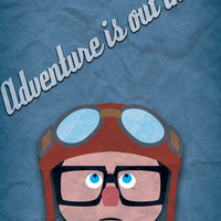Adventure is out there! Art Print by Bluebird Design | Society6