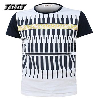 Fashion Tops Men'S Shirts O-Neck Tees Shirt Sleeves Men T-Shirts Striped Men Jerseys Cotton T-Shirt Men
