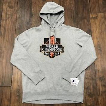 San Francisco SF Giants 2014 World Champions Gray Hooded Sweatshirt Mens Size XL