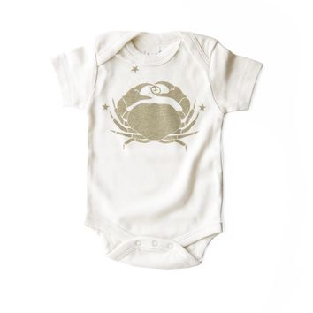 Cancer Organic Baby Bodysuit in Natural [June 21 - July 22]