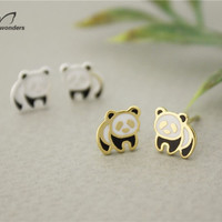 Small Panda Stainless Steel Gold/Silver Earrings