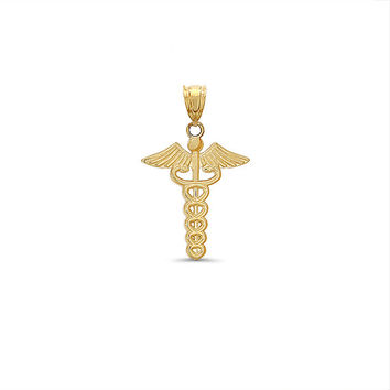 14k solid gold medical pendant. medical jewelry.