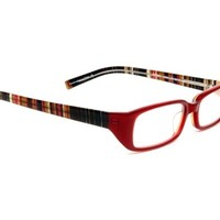 Sherry Corinne McCormack Womens Reader in Red Stripes