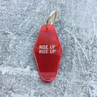 Rise Up Rise Up Key Fob in Translucent Red Revolution Key Chain by Minor Thread