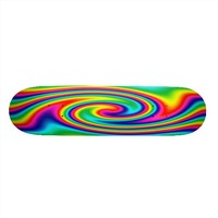 Multi-Colored Rainbow Twirl Custom Skate Board