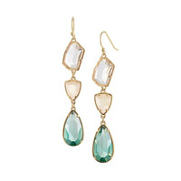 3 Colors Transparent Faux Gem Earrings