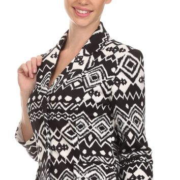 Courtenay Blazer~Black and White or Black and Sand~Casual or Business