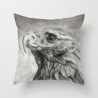 Eagle Throw Pillow by Andulino