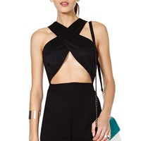 Nasty Gal Got Wrapped Up Romper