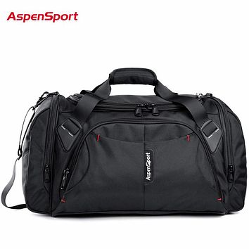 AspenSport 2017 Men Travel Bags Luggage Nylon Duffle Bags Travel Handbag Waterproof Weekend Bags Large Big  Bag