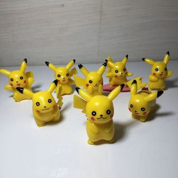 8 style pikachued figura figures action cartoon ed figure action Pocket monster Christmas birthday toys for children Y52Kawaii Pokemon go  AT_89_9