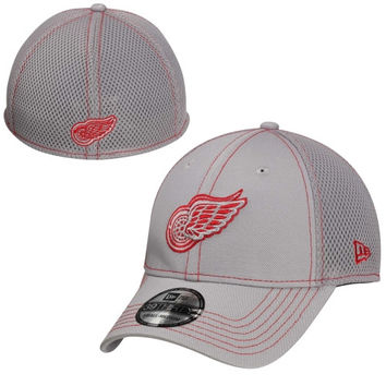 New Era Detroit Red Wings 39Thirty Neo Stretch Fit Hat - Gray