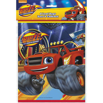 Blaze and the Monster Machines Party Loot Bags [8 per Pack]