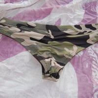 Scrunch Cheeky Bikini Bottom TOFINO in Camo, by MAKANI DREAM Swimwear