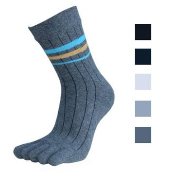 2016 Summer New Mens Socks Cotton Five Finger Socks Casual Toe Socks Breathable Calcetines Ankle Socks #OR