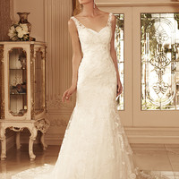Casablanca Bridal 2099 Tank Lace Trumpet Skirt Wedding Dress