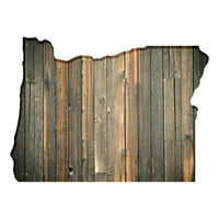 Oregon Faux Wooden wall decal