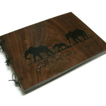 Personalized Wood Photo Album Extra Large14x20 -  Woodburnt With Your Design
