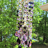 Crystal Owl Wind Chime Sun Catcher, House Warming Gift, Owl Gift, Garden Décor, Gift for Her, Garden Accent, Crystal Gift,WC 121