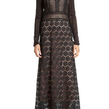 Theory Rabella Daisy Lace Maxi Dress | Nordstrom