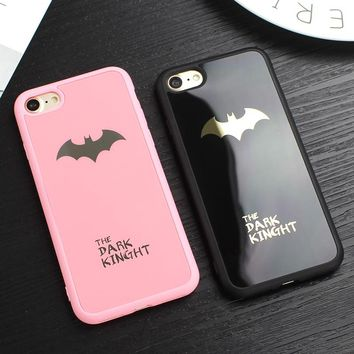 JAMULAR Mirror Batman Silicone Phone Case for iPhone 8 Plus Soft Back Cover for iPhone 6 6s 7 Plus X 10 8 Coque Fundas Capinhas