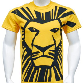The Lion King the Broadway Musical - All Over Simba Print T-Shirt for Adults