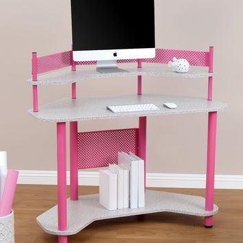 Calico Designs 55122 Study Corner Desk, Pink