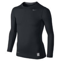 Nike Pro Hyperwarm Compression Boys' Shirt Size Medium (Black)