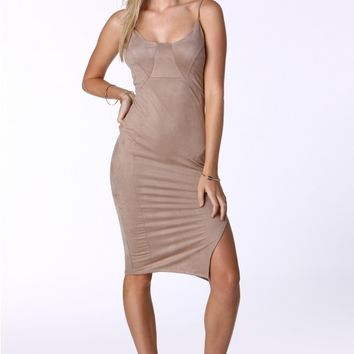 Tasha Suede Bodycon Dress