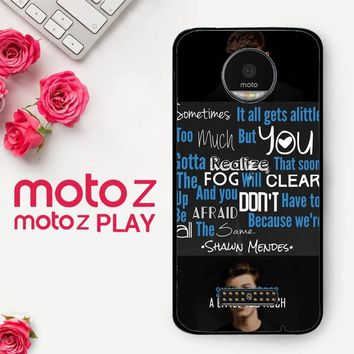 Shawn Mendes Little Too Much X3515  Motorola Moto Z Play Case