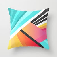 Space Garden Throw Pillow by Elisabeth Fredriksson