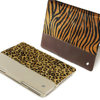 Wild Series Cowhide Genuine Leather Case for Apple iPad 2/3/4 Protective stand case fur smartcover free screen protector