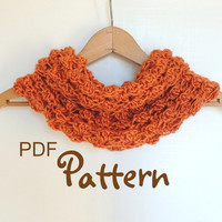 PDF CROCHET PATTERN, Beautiful Crochet Cowl, Digital Download, Photos, Easy to Follow