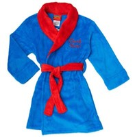 "Disney® Superman ""Clark Kent"" Fleece Bathrobe in Blue"