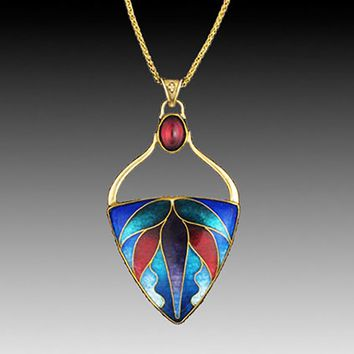 All NEW Soaring Cloisonné and Gold Pendant