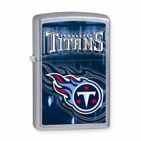 Zippo Tennessee Titans High Polish Chrome Lighter - Engravable Gift Item