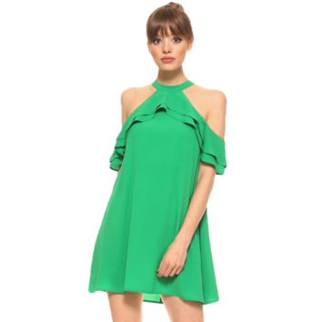 Ava Dress In Kelly Green