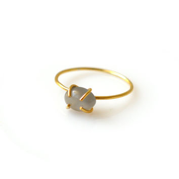Moonstone Claw Ring