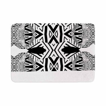 "Pom Graphic Design ""Africa"" Black White Memory Foam Bath Mat"