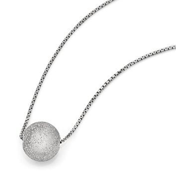 15mm Laser-Cut Bead & Box Chain Necklace in Sterling Silver 18-20 Inch