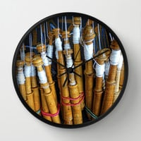 Bolillos or Lace Spindles Wall Clock by Awesome Palette