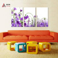 home decor Modular pictures cuadros decorativos art wall oil painting Purple flower wall poster Print On modern Canvas no Frames