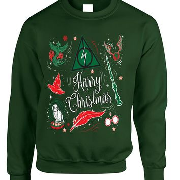 Adult Sweatshirt Harry Christmas Cute Holiday Ugly Xmas Sweater