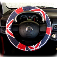 by (CoverWheel) Steering wheel cover for wheel car accessories British Flag