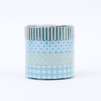 Classiky Washi Tape Set (O) Blues