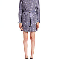 KENZO - Cartoon Cactus-Print Shirtdress - Saks Fifth Avenue Mobile