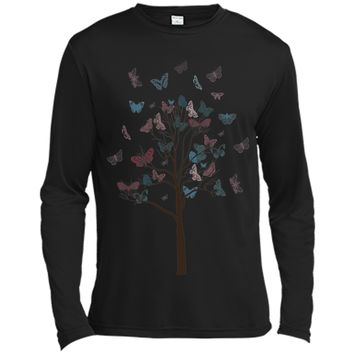 Attractive Tree With Butterflies Tattoo 2017 T Shirt