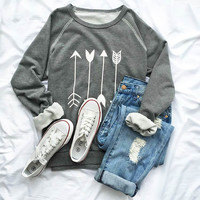 Cupshe Say Yes to the Arrow Sweatshirt