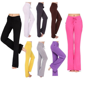 Newcomdigi Women Soft Comfy Yoga Sweat Lounge Gym Sports Athletic Pants Leggings S-XXXL = 1933278788